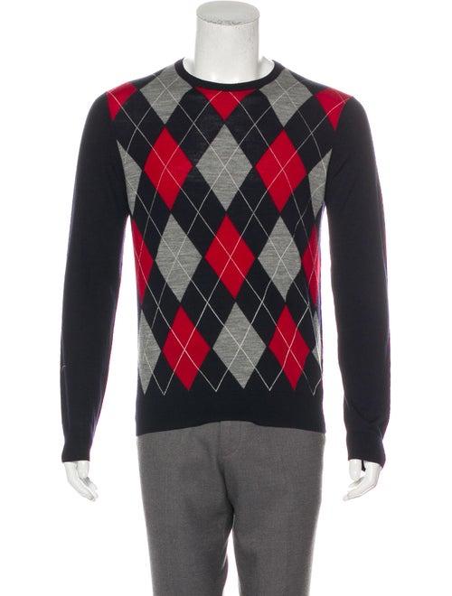 Gucci Argyle Knit Sweater grey