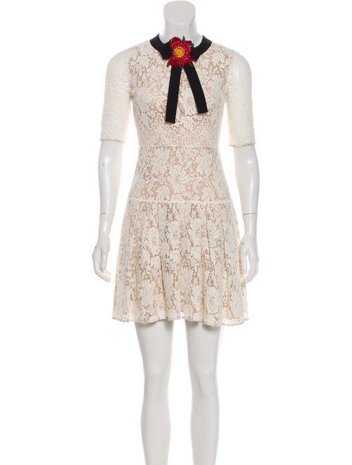 Gucci Lace Mini Dress black