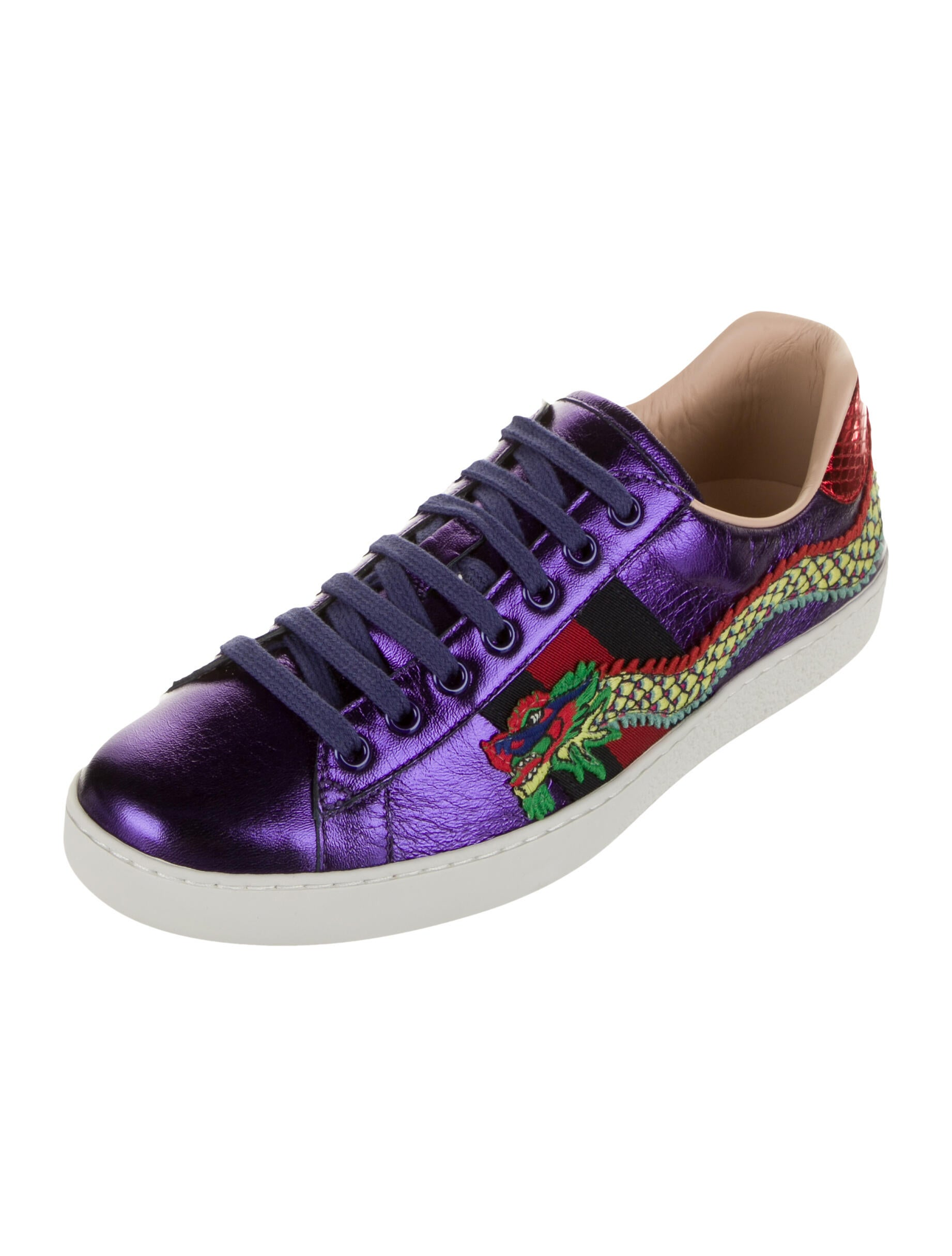 Gucci Ace Purple Dragon Sneakers