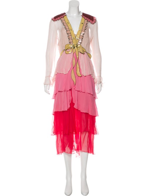Gucci Silk Maxi Dress Pink