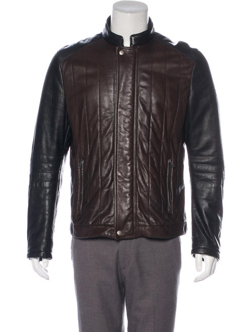 Gucci Quilted Leather Jacket brown