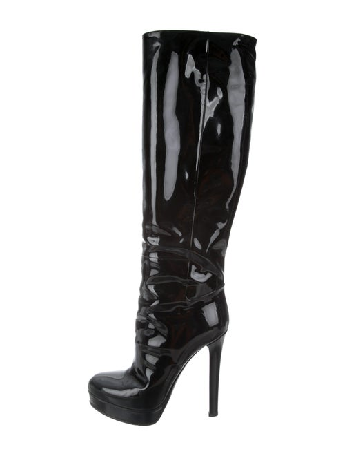 Gucci Patent Leather Platform Over-The-Knee Boots