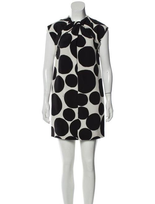 Gucci Polka Dot Mini Dress Black