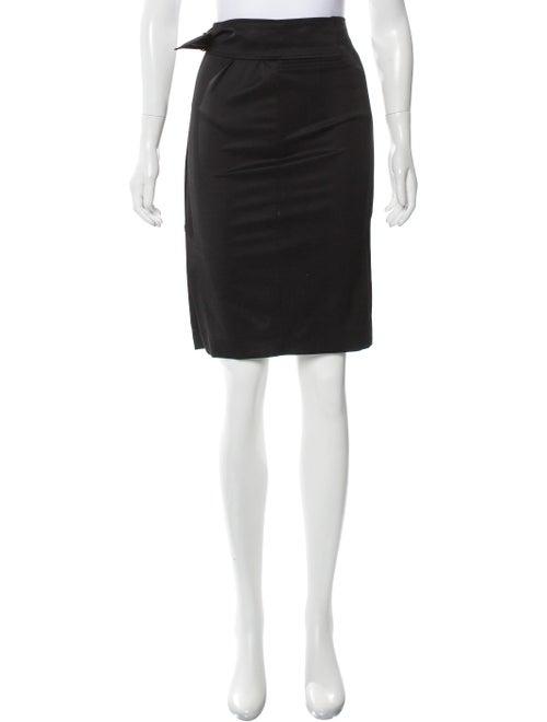Gucci Wool Pencil Skirt Black