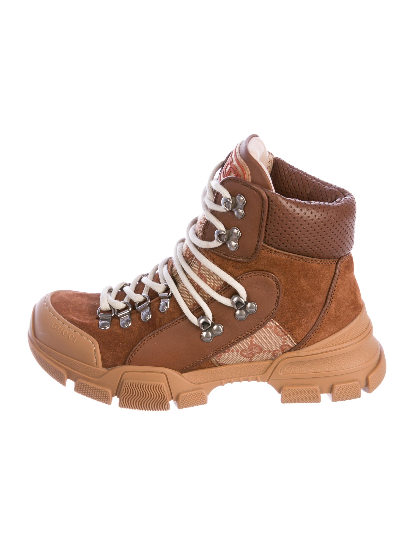 Gucci Flashtrek GG Hiking Boots - Shoes