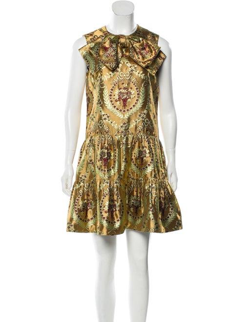Gucci Jacquard Mini Dress multicolor