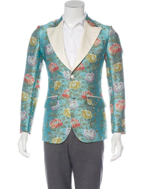 Gucci Heritage Floral Jacquard Blazer w/ Tags blue