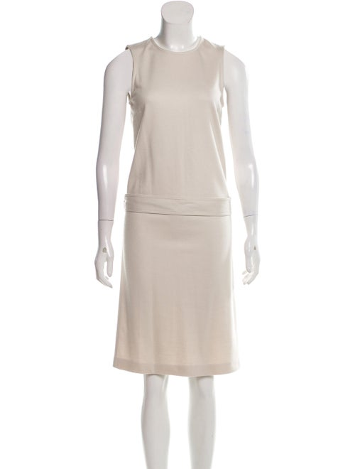 Gucci Belted Shift Dress Beige