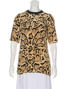 Gucci Silk Animal Print T-Shirt w/ Tags