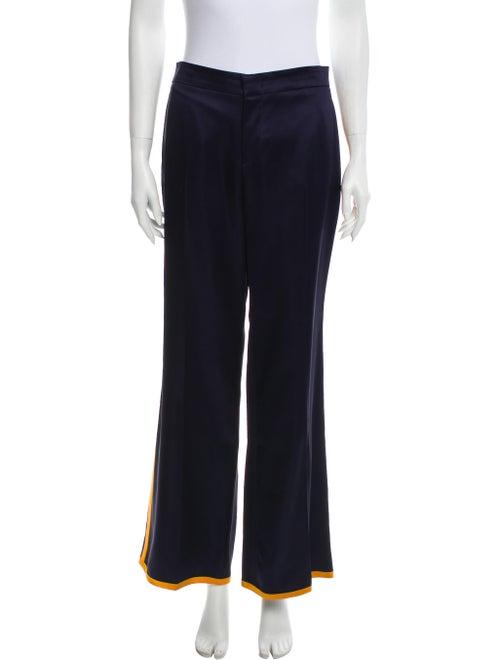 Gucci Mid-Rise Satin Pants Navy