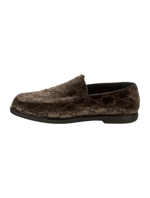Gucci GG Suede Loafers Brown