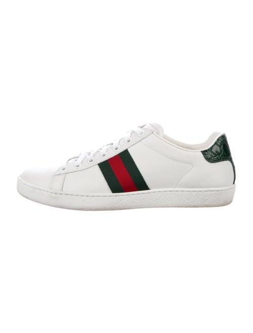 Gucci Ace Gucci Web Accent Sneakers White