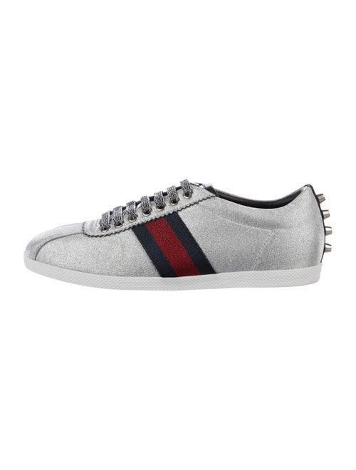 Gucci Bambi Glitter Web Sneakers Silver