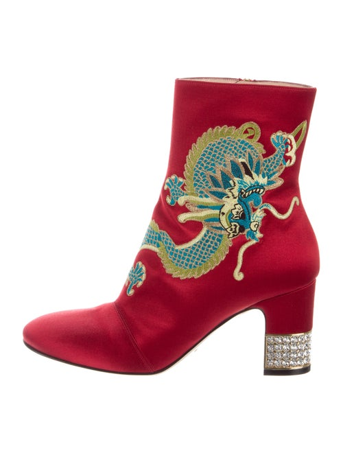 Gucci Candy Ankle Boots Red