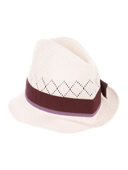 Gucci Straw Fedora Hat