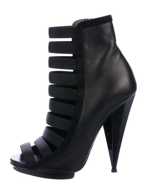 Gucci Multistrap Leather Boots Black