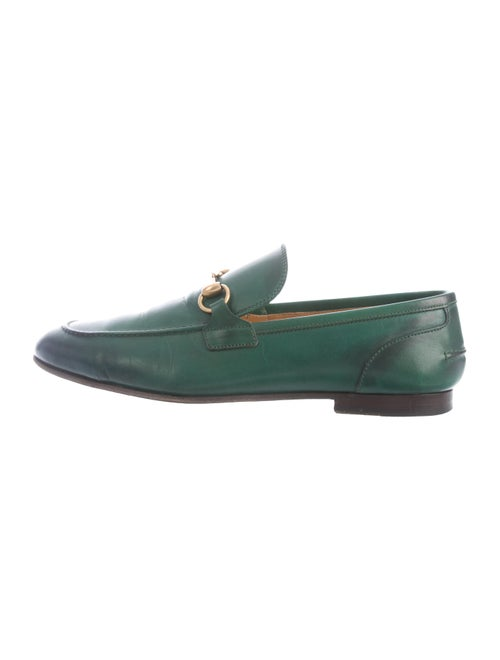 Gucci Horsebit Leather Loafers green