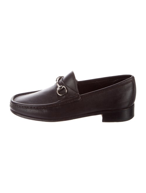 Gucci Loafers Horsebit Accent Loafers Brown
