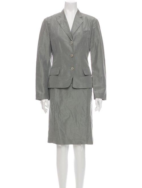 Gucci Linen Skirt Suit Grey