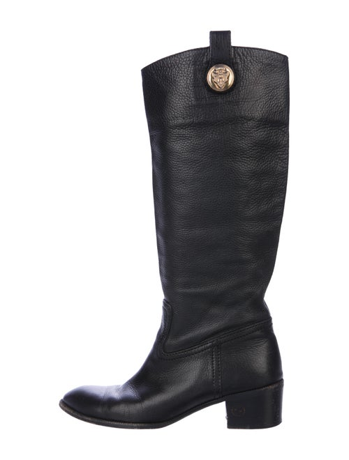 Gucci Hysteria Leather Riding Boots Black