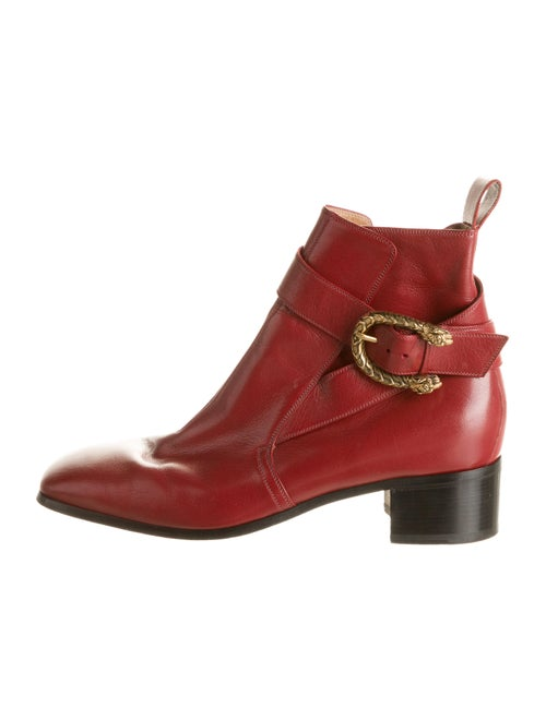 Gucci Leather Dionysus Boots red