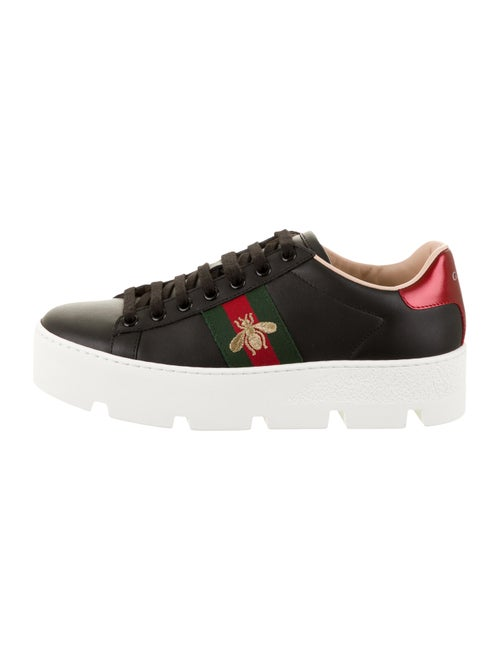 Gucci Ace Platform Sneakers w/ Tags Black