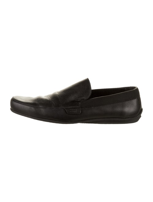 Gucci Leather Driver Loafers black