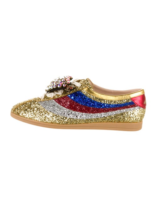 Gucci Falacer Glitter Sneakers Gold