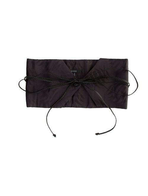 Gucci Silk Wide Waist Belt Black