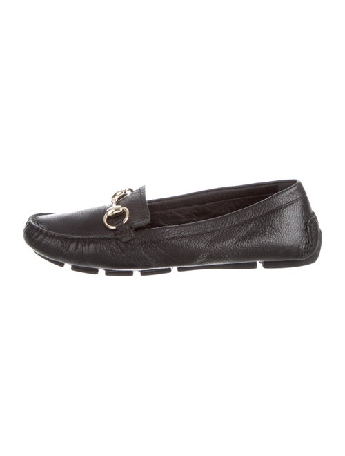 Gucci Loafers Horsebit Accent Loafers Black