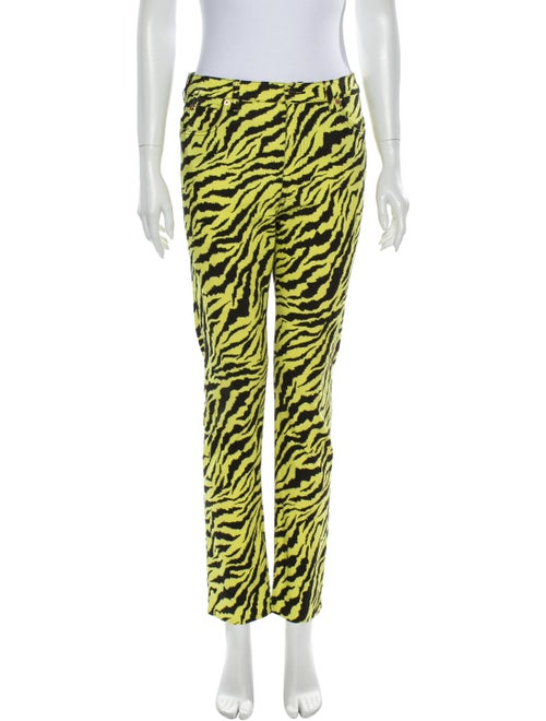 Gucci Mid-Rise Straight Leg Jeans Yellow