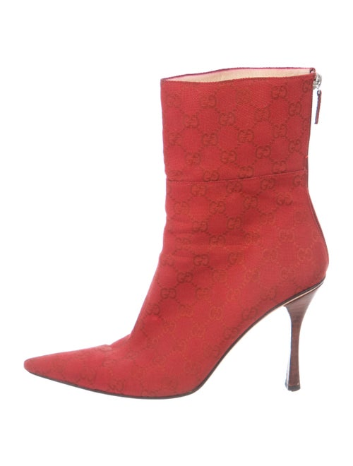 Gucci GG Supreme Ankle Boots Red