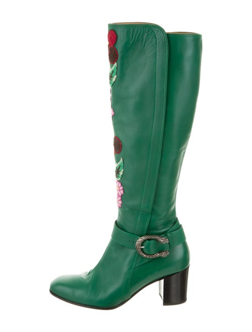 Gucci Elizabeth Dionysus Boots green