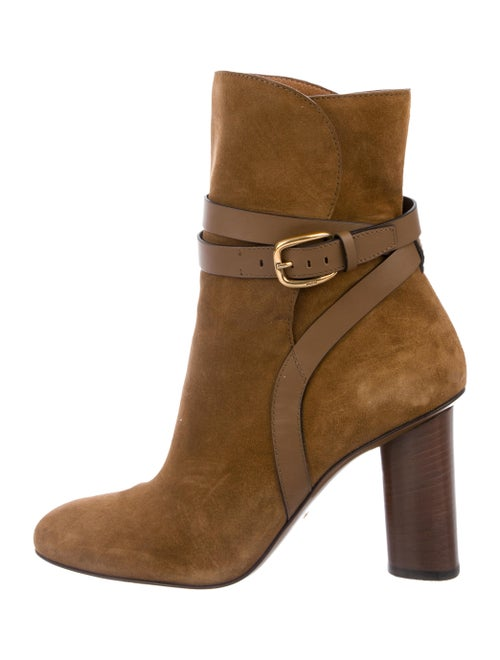 Gucci Suede Ankle Boots Brown