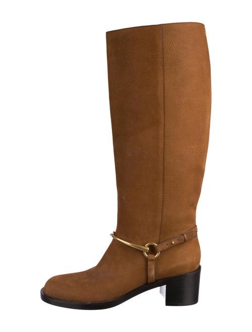 Gucci Horsebit Knee-High Boots Brown