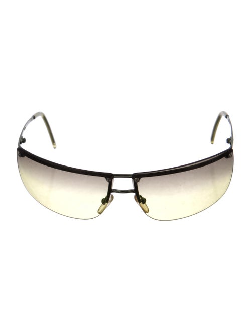 Gucci Rimless Square Sunglasses Lime - image 1