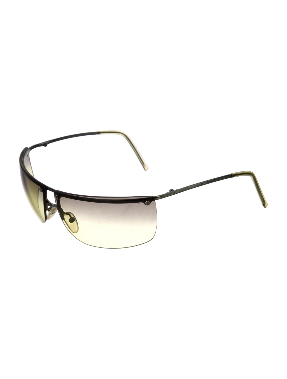 Gucci Rimless Square Sunglasses Lime - image 2