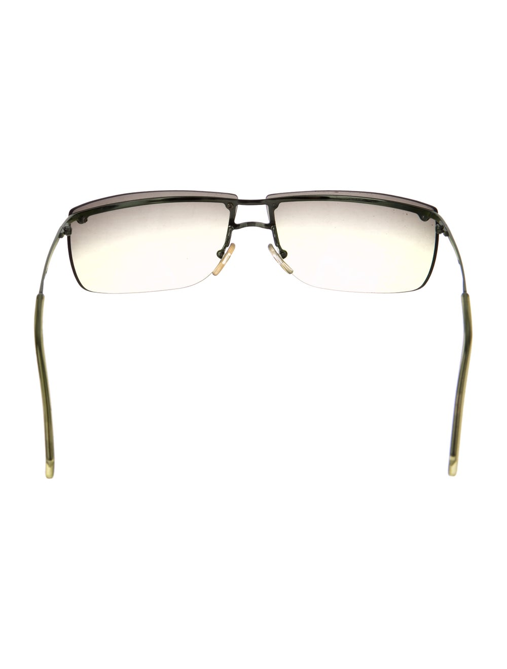 Gucci Rimless Square Sunglasses Lime - image 3