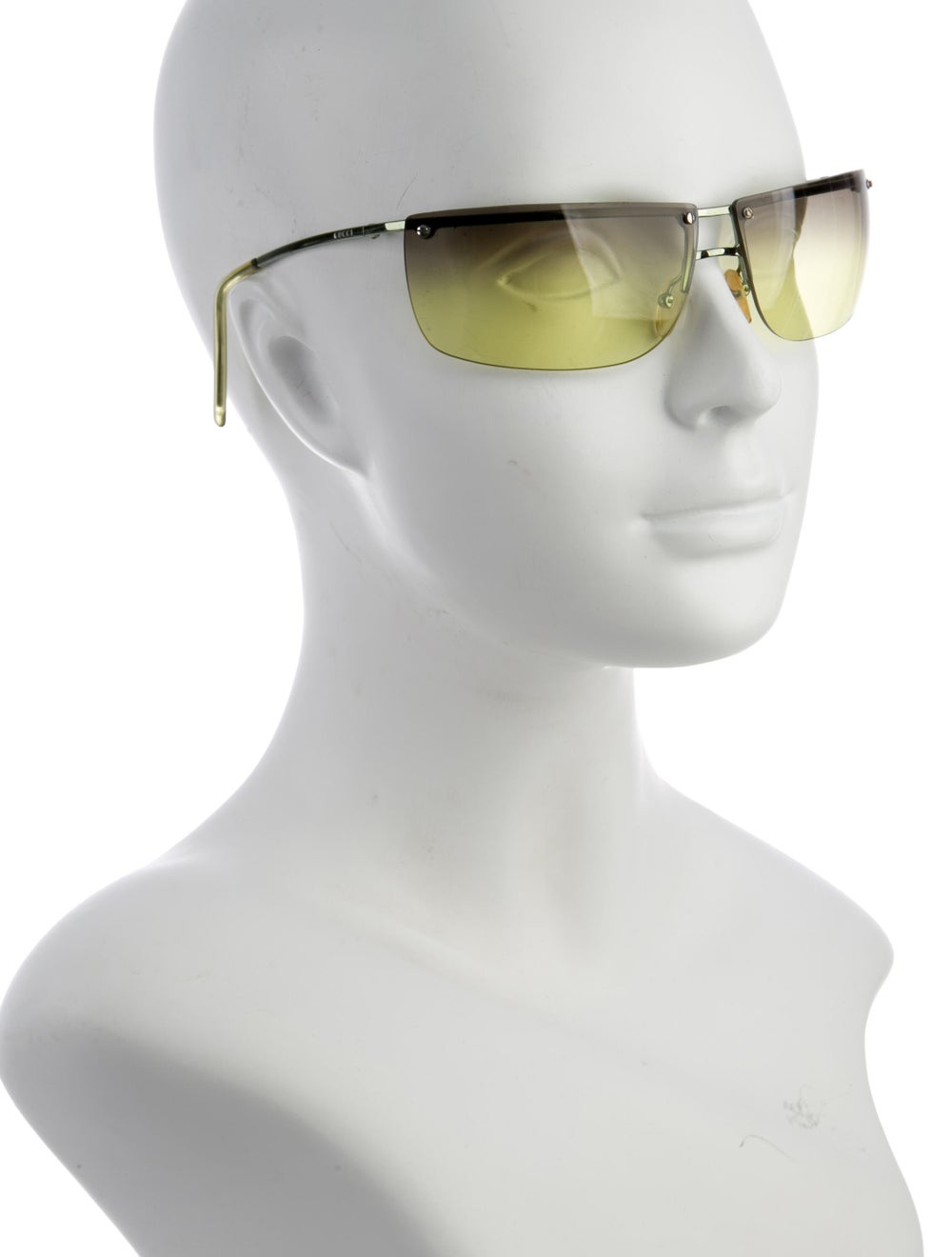 Gucci Rimless Square Sunglasses Lime - image 4