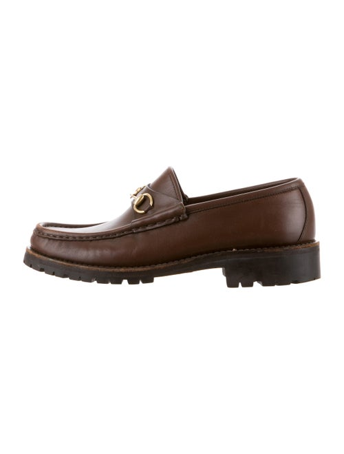 Gucci Horsebit Leather Loafers Brown