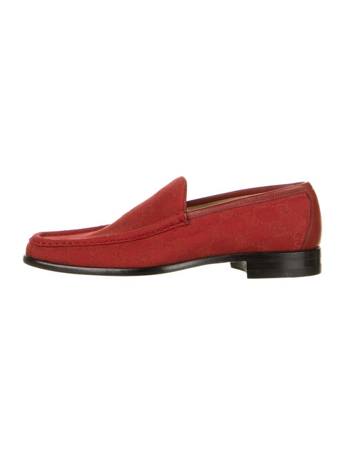 Gucci GG Canvas Loafers Red