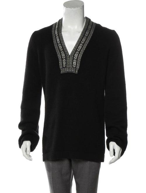 Gucci Cashmere Embroidered Sweater black