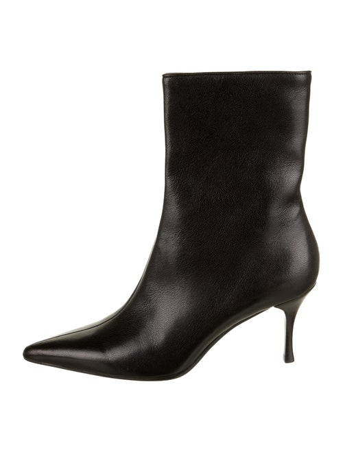 Gucci Leather Pointed-Toes Boots Black