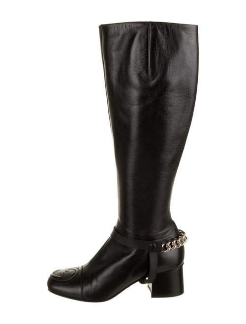 Gucci GG Chain-Link Boots Black