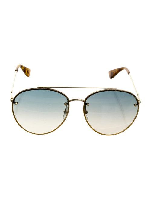 Gucci Glitter Aviator Sunglasses w/ Tags Gold
