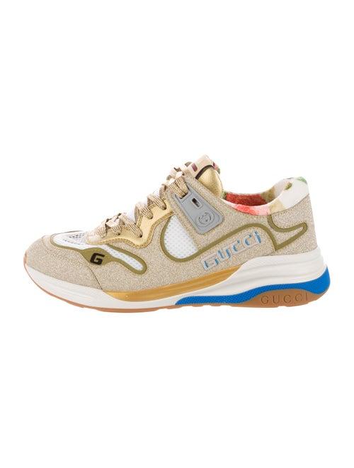 Gucci G Line Glitter Sneakers Gold