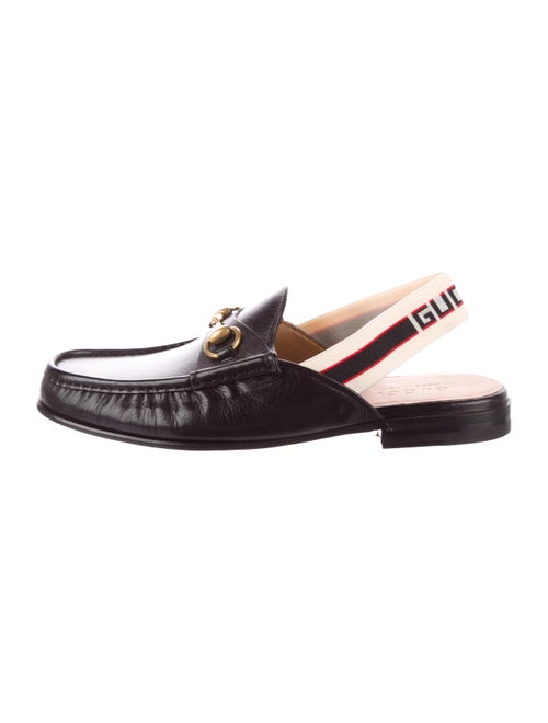 Gucci Horsebit Slingback Slippers black