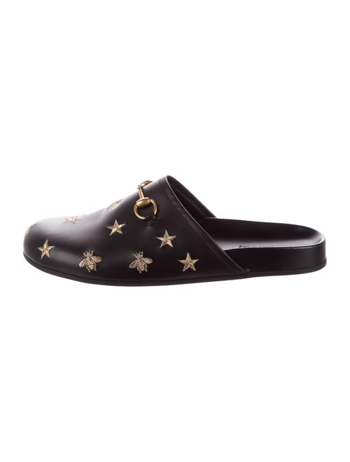 Gucci River Horsebit Slippers black