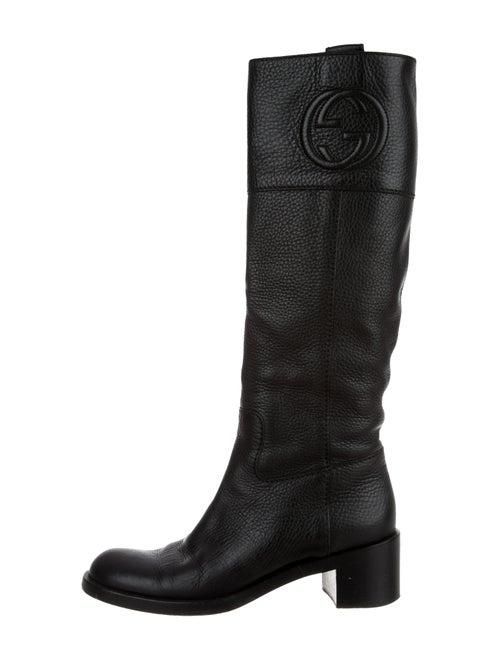 Gucci GG Knee-High Boots Black