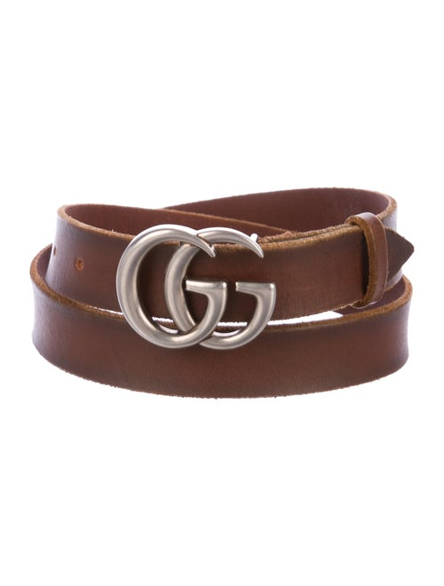 Gucci Leather GG Belt Brown